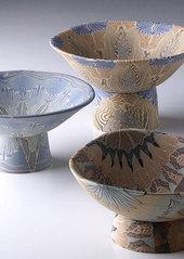 陶器練込茶碗
